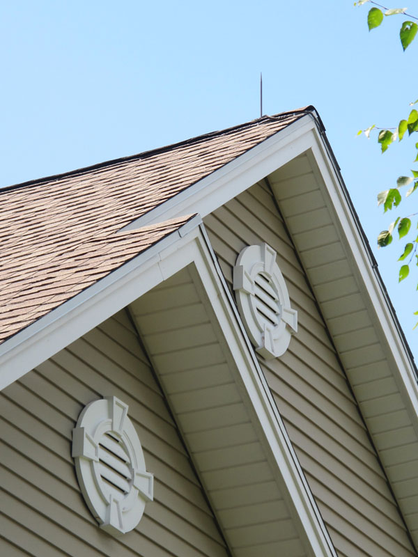 Lightning Protection Downlead Cables Are Run On The Roof Edge Trim To Blend  In With The Lines Of The Building.